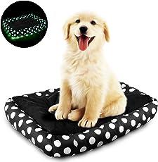 Magicpeony Leuchtend Hundebett mit abnehmbarem Bezug, Weich gemütlich Hundekissen wasserabweisendes Hundesofa, Hundekorb, Selbstaufwärmung