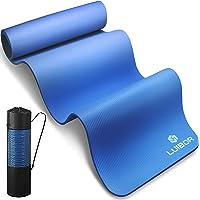 Luibor Tappetino Yoga Antiscivolo,Tappeto Fitness da 10 mm di spessore per esercizio con borsa per il trasporto…