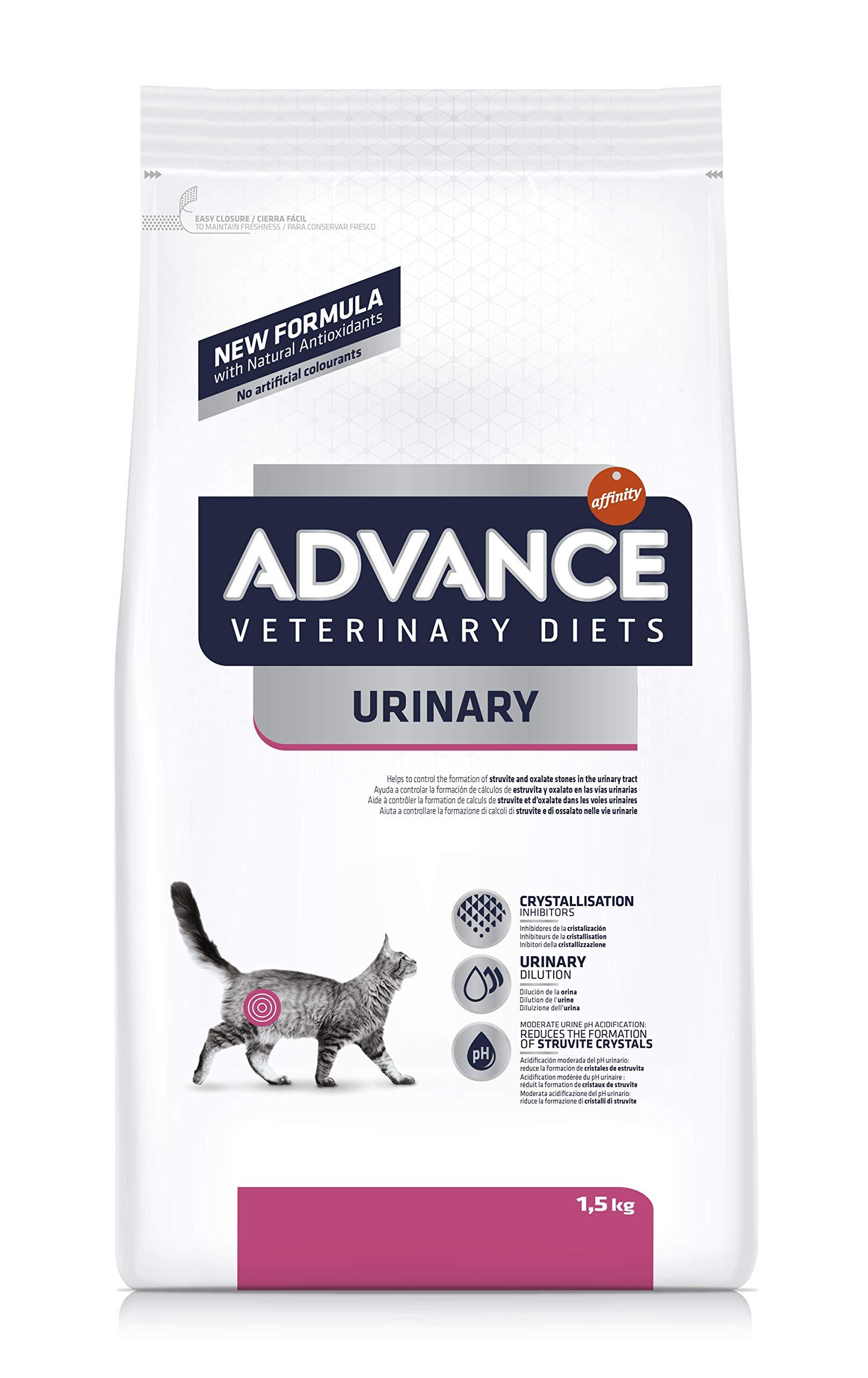 Advance Veterinary Diets Urinary – Pienso para Gatos con Problemas urinarios – 1.5 kg