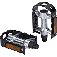 """Bbb Cycling City Bike Pedals Flat 9/16"""" with Reflectors Aluminium Body for All Bicycle's BPD-16"""