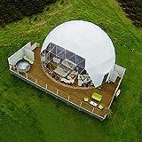 LFDHSF Familien-Campingzelt, Hauben-Durchgang luxuriöses halbtransparentes aufblasbares Blasen-Zelt im Freien