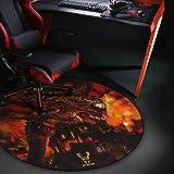 Woxter Stinger Floorpad Red - Alfombrilla Gaming de Suelo, Tapete Protector para Suelo - Resistente al Agua, Lavable, 100% Mi