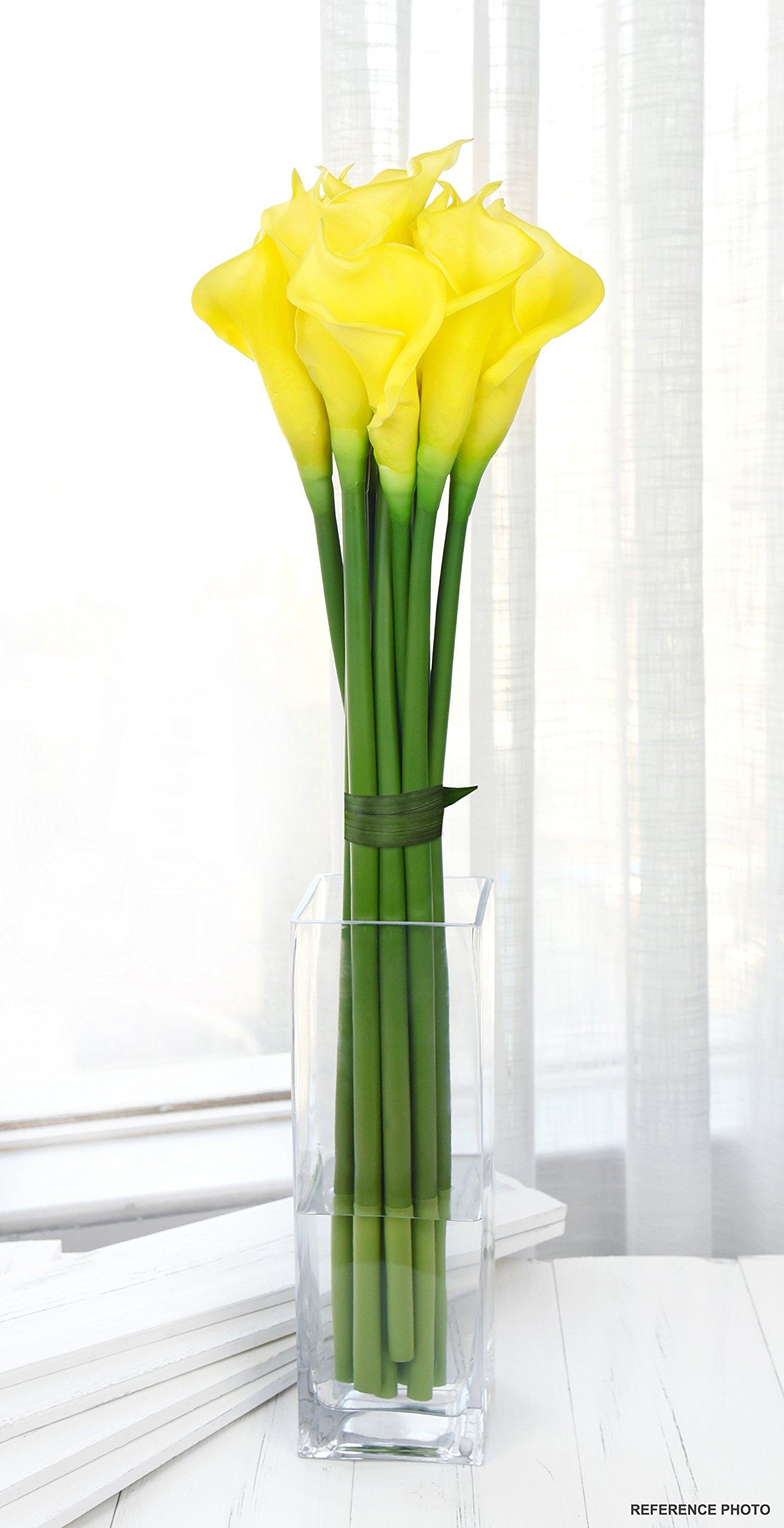 FiveSeasonStuff 6 Tallos Largos de Toque Real Artificial Verde Lirio de Calla Flores y Ramo, para Tienda Casa…