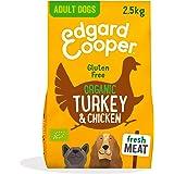 Edgard & Cooper Pienso Perros Adultos Comida Seca Organico Sin Cereales 2.5kg Pavo y Pollo Fresco, Naturalmente fácil de dige