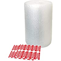 Rouleau de papier bulle 11 m – Petites feuilles de papier bulle avec 10 autocollants fragiles – Idéal pour emballage…