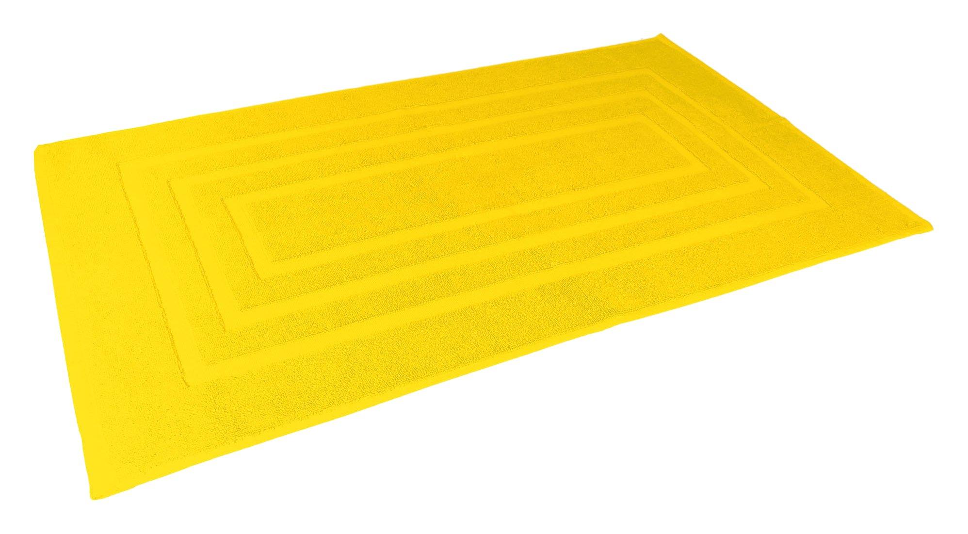 Douceur d' interno 1800580�Tappeto di Bagno Spugna unita Vitamina cotone giallo 85�x 50�x 1�cm