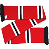 Brentford Supporters Red, White and Black Retro Striped Scarf