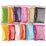 12عبوة من كرات الفوم الصغيرة الملونة للاعمال الفنية و الديكورات و الهدايا و لعمل السلايم