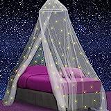 Klamboe met 67 Glow in the Dark Sterren - Hemelbed voor Kinderkamer of Volwassenen - Sterrenhemel Sluier, Hemeltje en Bedtent