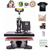 CO-Z Heat Press Machines, Swing Away Digital Sublimation Heat Pressing Transfer Machine for T-Shirt/Mug/Hat Plate/Cap…