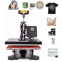 CO-Z Heat Press Machines, Swing Away Digital Sublimation Heat Pressing Transfer Machine for T-Shirt/Mug/Hat Plate/Cap…