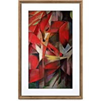 MEURAL Canvas II MC321HW Smart Art Digitale HD-Leinwand 41 x 61 cm (Dunkler Holzrahmen, 21.5 Zoll, Gemälde und…