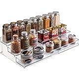 mDesign Especiero extensible de plástico – Estante para especias y condimentos – Ideal accesorio de cocina para organizar esp