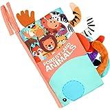 Vicloon Livre Tissu Bébé,Livre de Tissu de Bébé,Livre Bebe Tissu,Livre Bébé Eveil,Toucher Soft Book Exercice de Intelligence