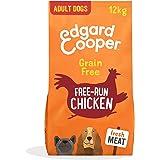 Edgard & Cooper Pienso Perros Adultos Comida Seca Natural Sin Cereales 12kg Pollo Fresco de Granja, Naturalmente fácil de dig