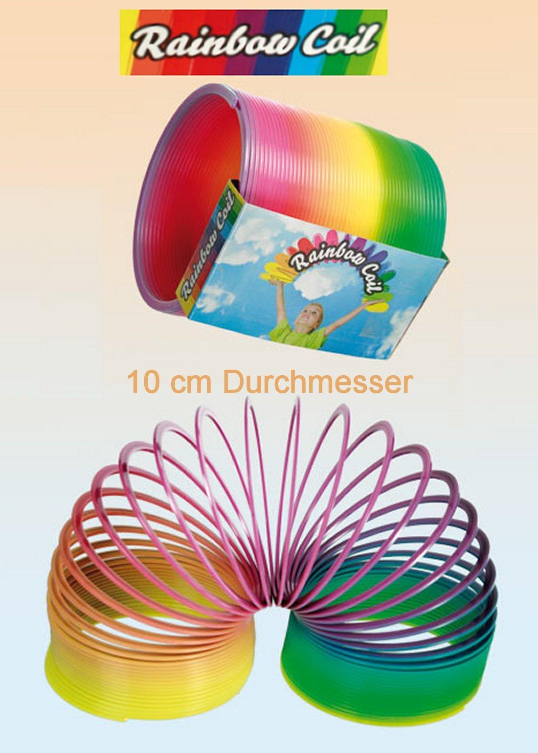 Out-of-the-Blue-612048-Kunststoffspirale-Regenbogen-Schreibwaren-10-cm