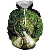 Divertente Tai Chi Alberi Hip Hop 3D Stampa Moda Uomo T Shirt Donne/Felpe/Felpe/Vest/Tops
