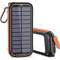 A ADDTOP Solar Powerbank Tragbares Solar Ladegerät 26800mAh mit 32 LEDs Helles Licht USB C Power Bank mit 3 Ausgängen…
