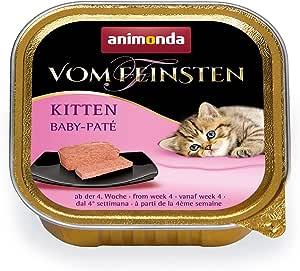 animonda Vom Feinsten Kitten, Nassfutter für wachsende Katzen im ersten Lebensjahr, verschiedene Sorten, 32 x 100 g