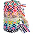 10 pezzi bracciali in tessuto caviglia cavigliera braccialetto dell'amicizia fatto a mano Multi colore unisex bracciale per a