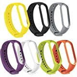 Bands Smartwatch Wristbands Replacement Band Accessaries Straps Bracelets for Mi5 Compatible with Xiaomi Mi Band 5 (7 Colors)