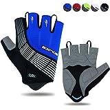 Souke Sports Cycling Gloves Half Finger Bicycle Gloves Moutain Bike Gloves For Men Women Padded Anti-Slip MTB Fingerless Road