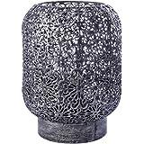 LUSSIOL Luminaire Zephir, lampe décorative métal, 40 W, gris, ø 15 x H 20 cm