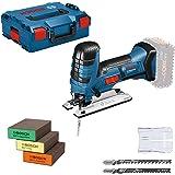 Bosch Professional 18V System sladdlös sticksåg GST 18 V-LI S (kompatibel med Bosch Click & Clean-system, inkl. 3x sågblad +