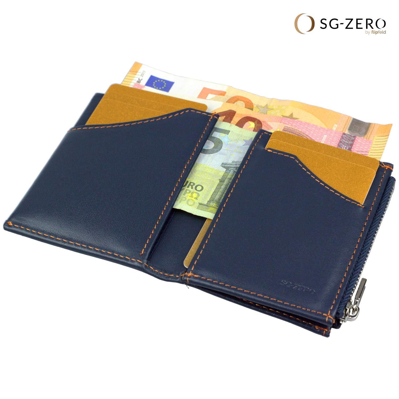 foto ufficiali 1da9e 3df90 Portafoglio uomo intelligente, vera pelle, porta carte di credito, anti-RFID