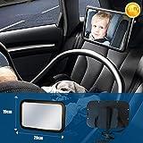 Soontrans Specchietto Retrovisore Bambini Auto Specchio Neonato Infrangibile Staccabile Rotazione Flessibile 360 ¡ã per Auto