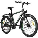 ANCHEER 26 tum elcykel stads-pendelcykel med avtagbart 10 AH batteri, 6 växlar elcykel för vuxna