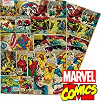 Marvel Comics Vintage Retro Style Gift Wrap and Tags by Marvel
