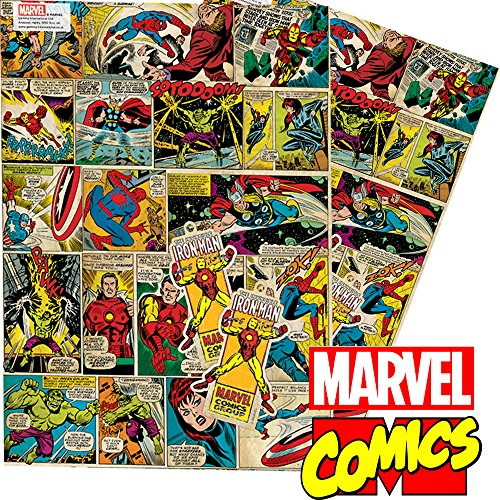 Marvel,Comic,Geschenkpapier,Superhelden