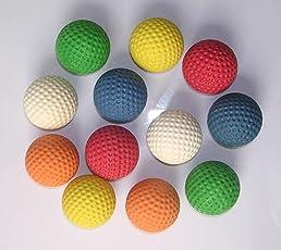 100 pcs mini palline da golf - mini golf ball standard per ogni impianto raffigurato nei colori