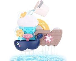 BBLIKE Juguetes Bañera, Bebé baño Cascada Llenar y Flujo Juguetes de baño Divertidos Ducha Regalo para niños de 1 2 3 y 4 año