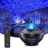 Nachtlampje Sterprojector met timer en afstandsbediening, Aap Home 2 in 1 Ocean Wave Projector voor Baby Kids Slaapkamer/Spel