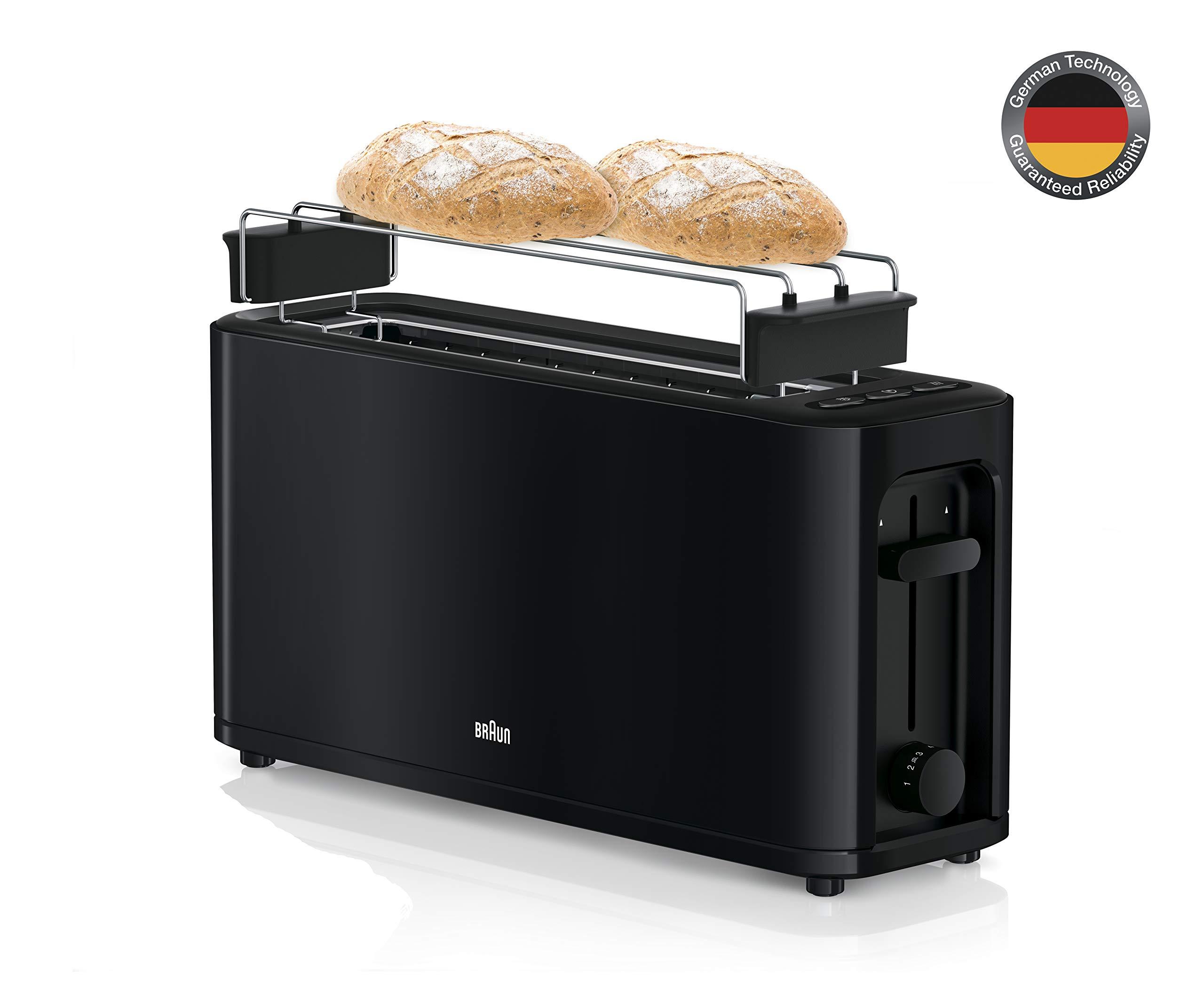 Braun-Toaster-1000-W-Arbeitsspeicher-Kontrolle-Scroll