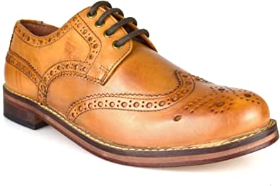 Red Tape Meath Tan Brown All Leather Brogue Men's Formal Shoes