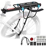 MAIKEHIGH Portabultos Bicicleta Trasero Carga 50KG, Liberación Rápida Ajustable Portaequipajes Bici Estante Tija De Sillín co