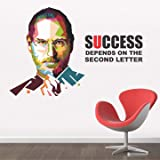 StickMe Paper Success Depends On You Steve Jobs Motivational Quote Wall Sticker, 2.28 x 11.81 x 2.28 Inches, Multicolour