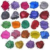 geneic 52 Kleur Mica Poeder Parelmoer Pigment Hars Colorant Pack Huid Veilig Voor DIY Zeep Epoxy Hars Kaars Nail Make-up Craf