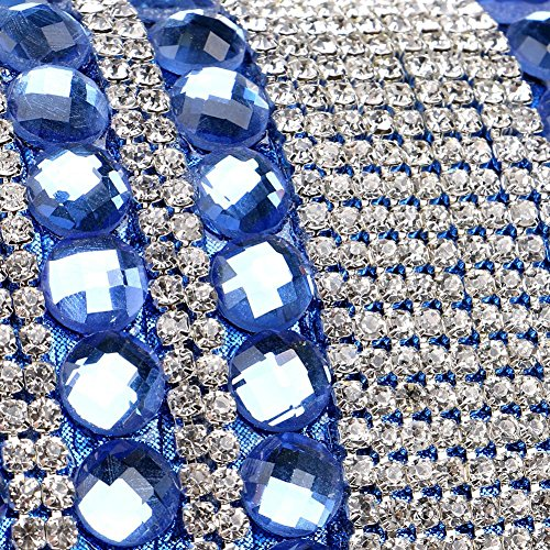 damen abendtasche kristall quaste diamant abendessen party hochzeit geldbörse handtasche. 20 x 12.5 x 6 cm blue