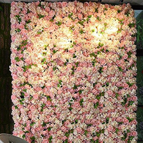 LVZAIXI Künstliche Rose Wall Panels Startseite Hochzeitstag Hintergrund Floral DIY Dekoration (Farbe : 02, größe : 50 * 50cm) -