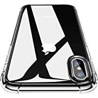CANSHN Cover Compatibile con iPhone XS e iPhone X, Custodia Trasparente per Assorbimento degli Urti con Paraurti in TPU…