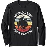 Camiseta de rana El mejor cazador de ranas del mundo Niños Manga Larga
