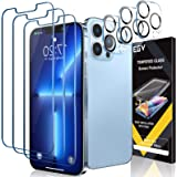 EGV 6 Pack Screen Protector Compatible with iPhone 13 Pro Max Protective Film (6.7 Inch), 3 Pack Tempered Glass, 3 Pack Camer