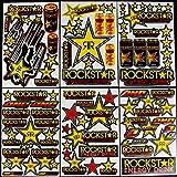 nasty stickers 6 Blatt Selbstklebende AUSSCHNEIDEN Aufkleber #Yelo Vinyl Motocross FÖRDERUNG MX RC GT BMX Bike Scooter + +