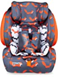 Cosatto Judo Child Car Seat | Group 1/2/3, 9-36 kg, 9 months-12 years, ISOFIX, Forward Facing, Removable Harness, Reclines (Mister Fox)