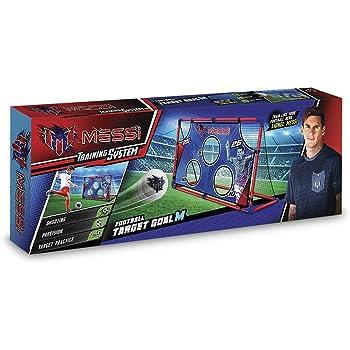 Messi Training System – Football Target Goal M - Cage de Foot d'Entrainement avec Cible + Ballon + Pompe
