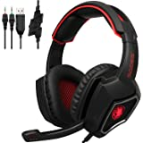 2016 New SADES Spirit Wolf 3.5mm Wired Stereo Gaming Headset Headband Headphones with Microphone Deep Bass Over-The-Ear Noise